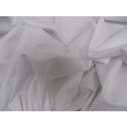 POLYCOTTON SHIRT FABRIC WHITE