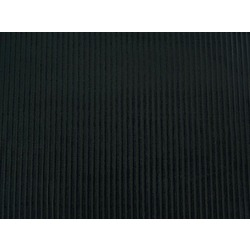 VELVET STRIPE BURNOUT BLACK