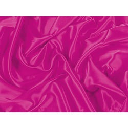 STRETCH SATIN ELECTRIC PINK