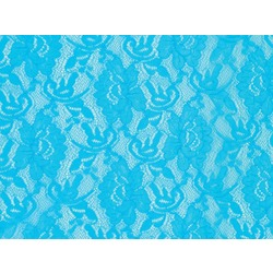 STRETCH FLOWER LACE BLUE PARADISE