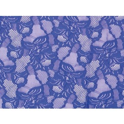 FLORAL CASCADE STRETCH LACE BLUEBERRY