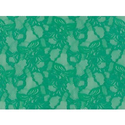 FLORAL CASCADE STRETCH LACE COOL AQUA