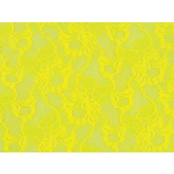 FLORAL CASCADE STRETCH LACE SASSY YELLOW