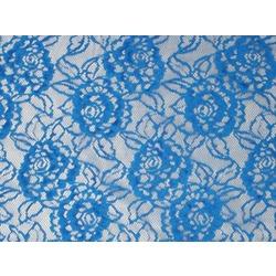 FINE FLOWER STRECTH LACE ELECTRIC BLUE