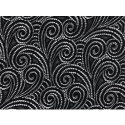 SWIRL STRETCH LACE BLACK