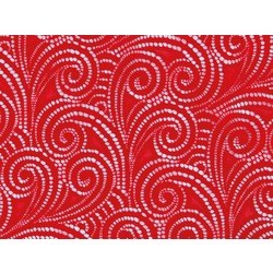 SWIRL STRETCH LACE RED