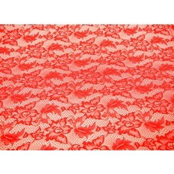 VALENTINA STRETCH LACE FLAME RED