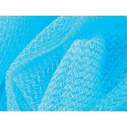 IRIDESCENT ZIG ZAG TULLE AB-BLUE ZIRCON