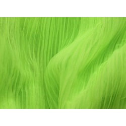 PLEATED SOFT TULLE FLUO GREEN