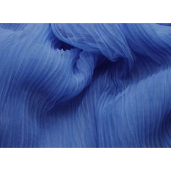 PLEATED SOFT TULLE OCEAN BLUE