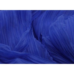 PLEATED SOFT TULLE ROYAL BLUE