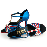 ELIZABETH - BLUE SETA/WHITE/RED