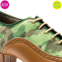 KATYA BROGUE - GREEN CAMO - INSPIRED BY KATYA