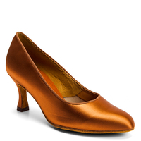 ICS ROUNDTOE - TAN SATIN