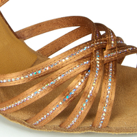 LARISSA/CINDY SEQUIN - TAN SATIN/TAN SEQUIN
