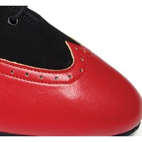 BESPOKE BROGUE - BLACK NUBUCK/RED