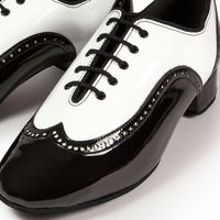 BROGUE SPLIT - WHITE PATENT/BLACK PATENT
