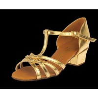 GIRLS MELISSA-T-BAR (TAN SATIN)