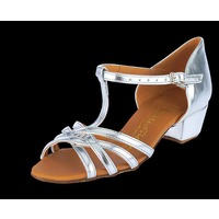 GIRLS MELISSA-T-BAR (WHITE SATIN)