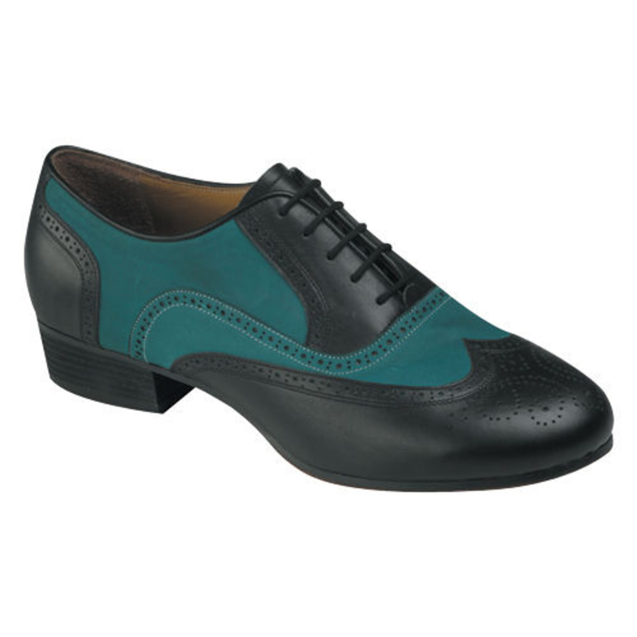 Tango-771 (BLACK LEATHER / GREEN NUBUCK)