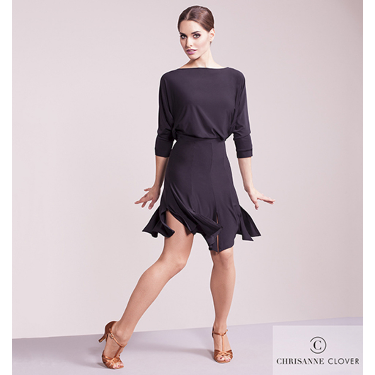 ILLUMINATE LATIN DRESS  BLACK