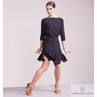 ILLUMINATE LATIN DRESS  BLACK
