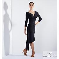 ECSTASY LATIN DRESS BLK & WINE (ПЛАТЬЕ)