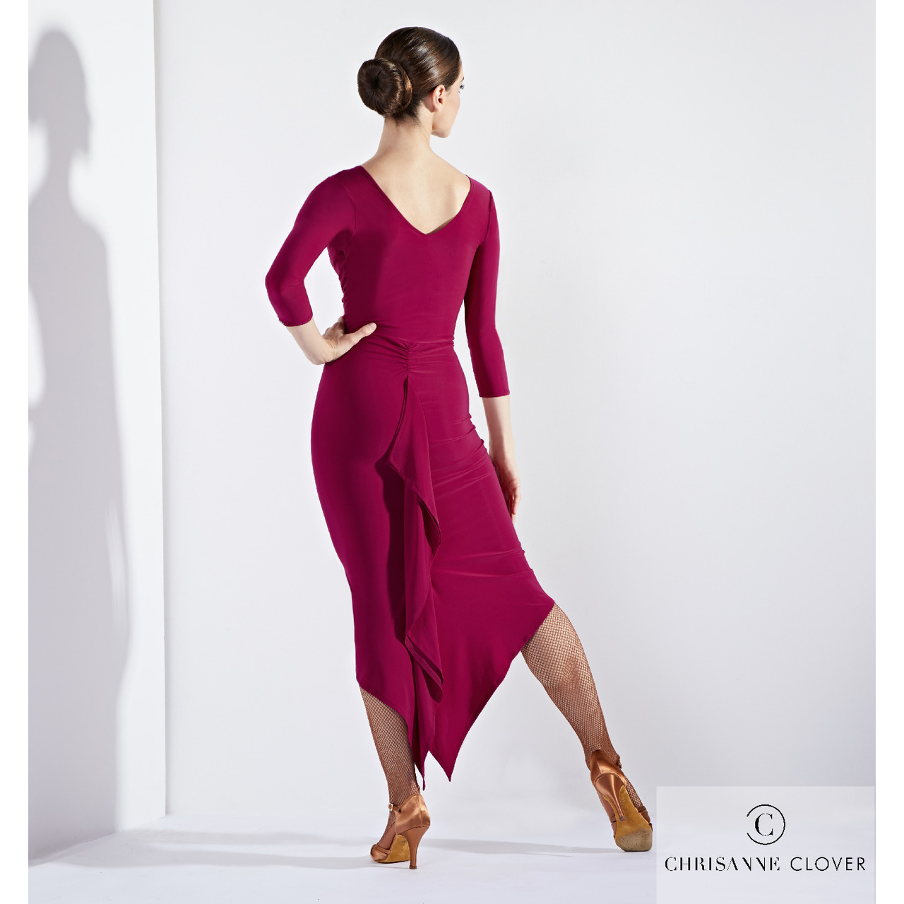 ECSTASY LATIN DRESS BLK & WINE (ПЛАТЬЕ)