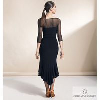 FLARE LATIN DRESS  BLACK (Платье)