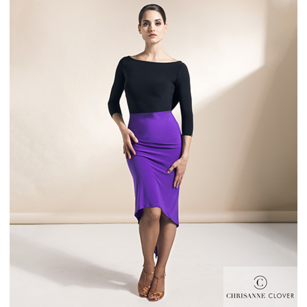 SEDUCTION LATIN SKIRT PURPLE RAIN & BLK (Юбка)