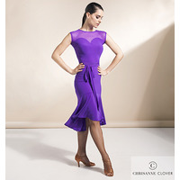 VERVE LATIN DRESS LARGE PURPLE RAIN (BLK) (Платье)